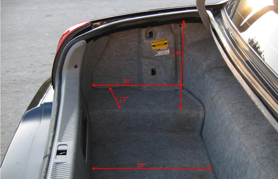 Luggage Space South Bay Sedan Limo Service San Jose Ca